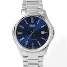 CASIO卡西歐藍面日期窗鋼錶【NEC31】
