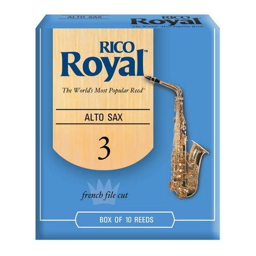【金聲樂器】美國 RICO Royal Alto Sax 3號 中音 薩克斯風 竹片 10片裝 現貨