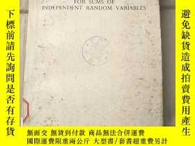 二手書博民逛書店limit罕見distributions for sums of independent random varia