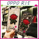 OPPO R15 R15pro 刺繡玫瑰...