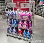 三層促銷架便利店超市貨架展示架面包食品貨架水果架名創優品貨架QM 美芭