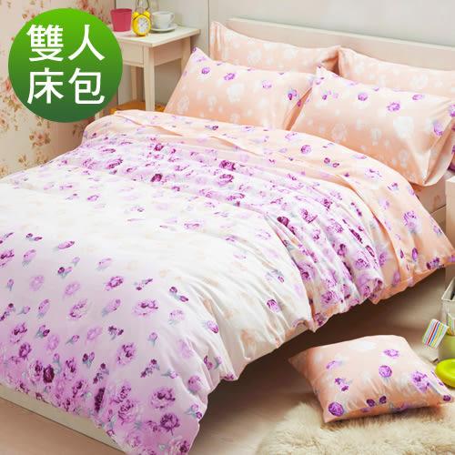 柔絲絨 床包組 雙人三件式-粉色假期/超取/RODERLY