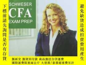 二手書博民逛書店SCHWESER罕見CFA EXAM PREP (level 1