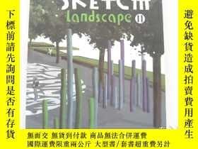 二手書博民逛書店英文原版罕見Sketch Landscape(草圖景觀)Ⅱ 20