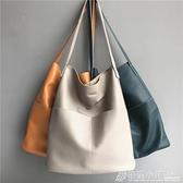 水桶包 新款包包女簡約牛皮女包外貿原單休閒水桶包側背手提大包包女 秋季新品