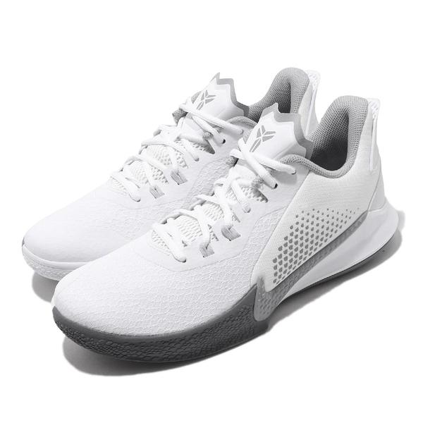 Nike 籃球鞋 Mamba Fury EP 白 灰 黑曼巴 Kobe Bryant 男鞋 【PUMP306】 CK2088-100