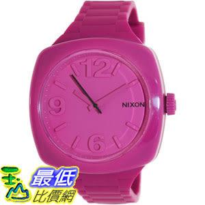 [105美國直購] Nixon Women s 女士手錶 Dial A265644 Pink Silicone Quartz Watch