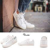 【海外限定】adidas 休閒鞋 Stan Smith 白 粉 復古奶油底 皮革鞋面 百搭熱銷款 女鞋【PUMP306】 CQ2810
