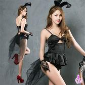神祕黑色系兔女郎四件式角色扮演服 【SV8936】快樂生活網