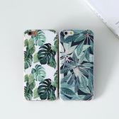 iPhone手機殼 可掛繩  夏日清新小綠葉 浮雕矽膠軟殼 蘋果iPhone7/iPhone6/iPhone5 手機殼