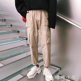 BF男友風 秋季新款日系潮流直筒休閒褲女純色寬鬆運動中性工裝褲 嬌糖小屋