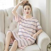 孕婦家居服 韓版睡衣女夏純棉短袖睡裙孕婦清新學生寬鬆甜美可愛家居服可外穿 珍妮寶貝