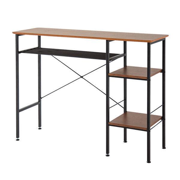 吧檯 吧台桌 餐桌 家具【L0006】奧斯丁英倫側二層架吧檯桌 MIT台灣製 收納專科