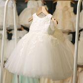 女童禮服婚紗花童裙子 兒童蓬蓬連身裙