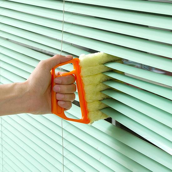 手握式 縫隙刷 可拆洗 除塵刷 超細纖維 清潔刷 纖維布 抹布 去汙 神奇百葉窗刷【J120】生活家精品