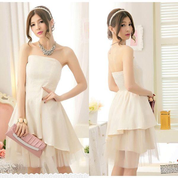 2209-S不規則層次網紗蓬蓬公主小禮服謝師宴服飾-美之札
