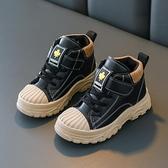 兒童靴子 秋冬童鞋兒童馬丁靴女童靴子 寶寶棉鞋雪地靴 男童短靴皮靴英倫風 嬡孕哺