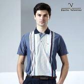 【Emilio Valentino】范倫鐵諾舒適條紋_深藍直條