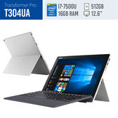 福利品ASUS/T304UA冰河銀/12.6LED+Touch/I7-7500U/16G(on Board)/512GSSD/WIN10/2Y