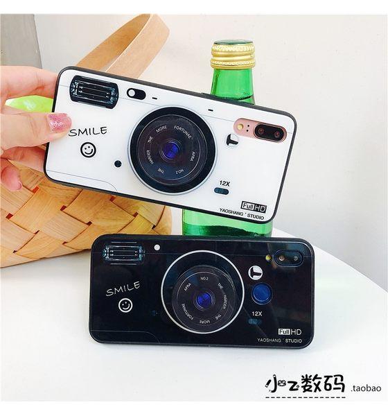 小米max3  潮牌 黑白相機 手機殼 防刮 玻璃殼 氣囊 支架