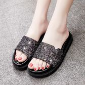 拖鞋女時尚外穿新款韓版學生百搭平底涼拖女舒適一字拖女鞋