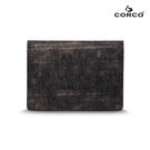CORCO 雙摺軟木名片夾 - 復古黑