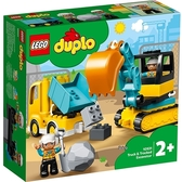 【LEGO樂高】Duplo幼兒系列 -  卡車 & 挖土機 #10931