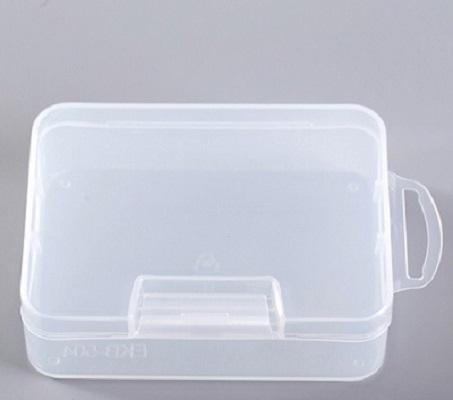 Qmishop 透明塑膠收納盒名片塑膠盒樣品展示盒504X透明9*6.5*3【J1632】