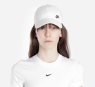 Y-NIKE NSW 白 小LOGO 刺繡 可調式 棒球帽 老帽 男女 運動帽 AO8662-101