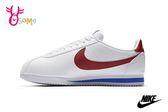 NIKE阿甘鞋 女款 現貨 正版 白紅 Classic Cortez Leather 復古運動鞋O7239◆OSOME奧森鞋業
