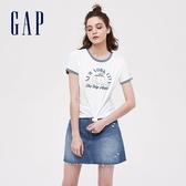 Gap女裝棉質舒適圓領短袖T恤501071-白顏色