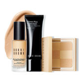 BOBBI BROWN 持久完美裸光組-持久無痕輕感粉底SPF15PA++30ml (正貨)+彷若裸膚蜜粉餅(正貨)+