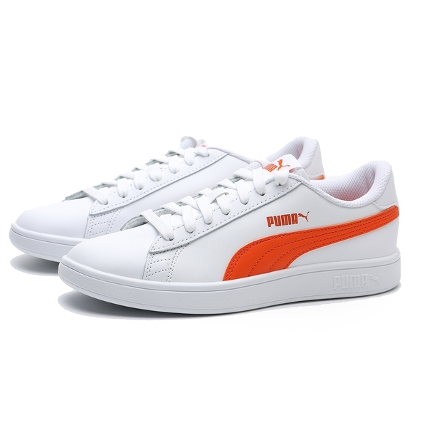 PUMA 休閒鞋 SMSAH V2 L 白 亮橘 皮革 基本 女 (布魯克林) 36521527