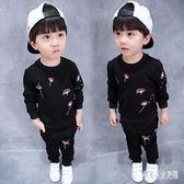 男童長袖套裝1-7歲中小童春長袖衛衣兩件套兒童寶寶套裝 qw744『俏美人大尺碼』