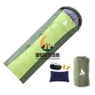 睡袋成人戶外旅行冬季四季保暖室內露營拼接雙人隔臟棉睡袋1.8KG 軍綠【創世紀生活館】