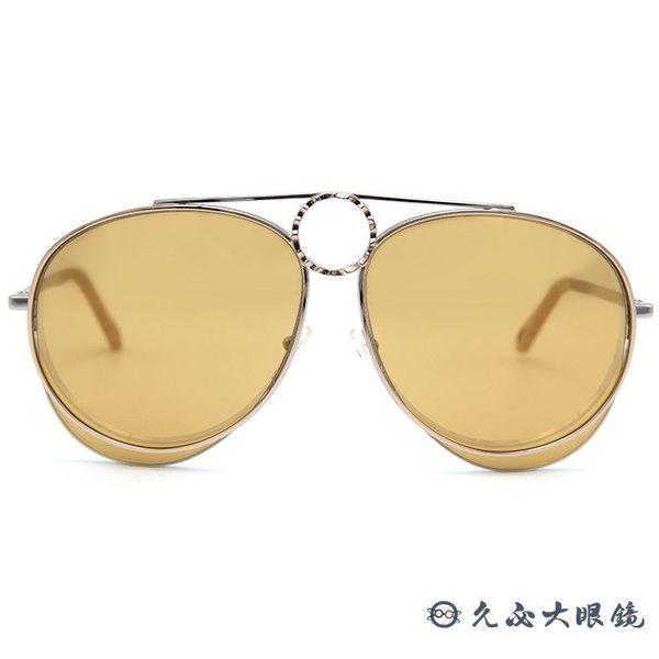 Chloe 墨鏡 CE144S 051 (銀-玫瑰金) 金屬 大框 水銀太陽眼鏡 久必大眼鏡