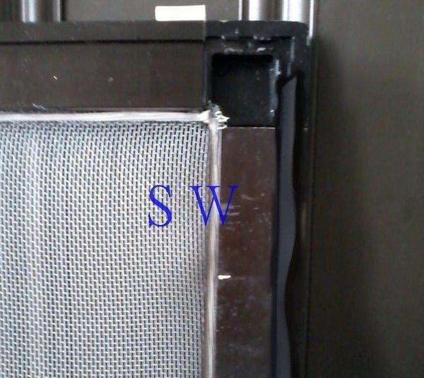 F3『昇瑋鋁窗五金』 紗窗邊條(小)4.6mmX13mm(單尺售)紗門邊條 鋁門窗 紗門 紗窗配件