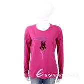 TRUSSARDI T 亮片字母桃紫色棉質T恤 1810241-41