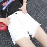 短褲女夏寬鬆百搭高腰牛仔熱褲