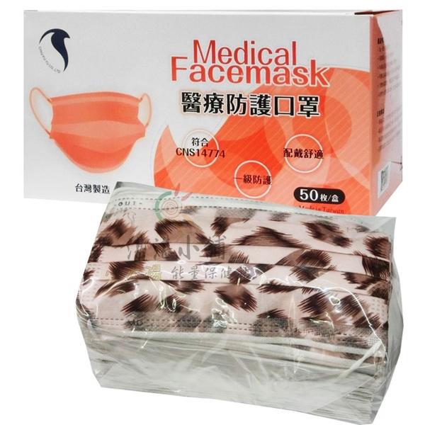 久富餘 成人醫用口罩 粉紅豹紋 台灣製造 50片裝 現貨供應