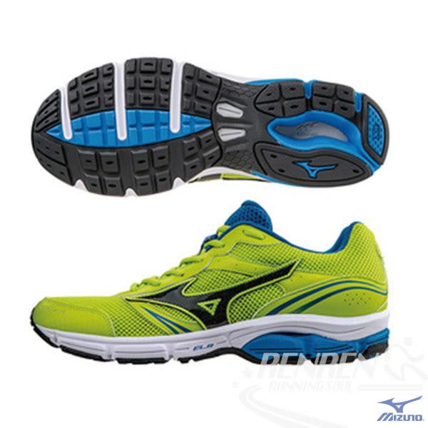 MIZUNO 美津濃 WAVE IMPETUS 3 男慢跑鞋 (螢光綠*黑) 暢銷支撐型鞋款