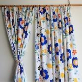 加厚窗簾田園風格掛鉤飄窗臥室廚房掛鉤款窗簾【白嶼家居】