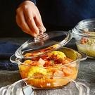 韓式大號透明家用帶蓋耐熱玻璃碗微波爐湯碗泡面碗保鮮碗菜碗湯盒 夏季上新