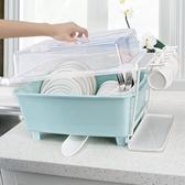 廚房放碗柜塑料帶蓋瀝水碗架
