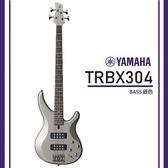 【非凡樂器】YAMAHA TRBX304/ 電貝斯套裝/公司貨保固/銀色