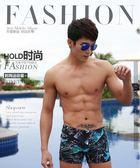 男士時尚加大碼平角速乾透氣遊泳褲EY1671『小美日記』