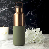 HYDY 海藻綠-古銅金 時尚保溫水瓶 590ml
