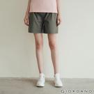【GIORDANO】女裝純棉素色抽繩卡其休閒短褲-50 葡萄葉綠