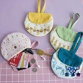 小錢包趣袋零錢包可愛布藝森林風鑰匙包帆布小包硬幣袋【古怪舍】