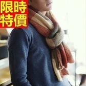 圍巾-羊毛拼色簡約毛線秋冬保暖厚款圍脖4色64t38【巴黎精品】